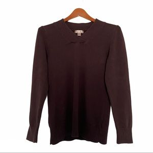 White Stag v neck sweater brown large
